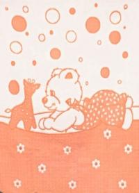 """Байковое одеяло """"Персик"""" 100"""