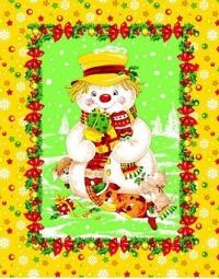 Снеговик (желтый)