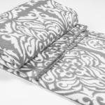 """Байковое одеяло """"Орнамент"""" серое 170"""