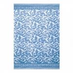 """Байковое одеяло """"Завиток"""" голубое"""