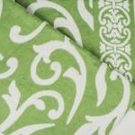 "Байковое одеяло ""Завиток"" зеленое"