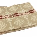 """Байковое одеяло """"Беж с полосой"""""""