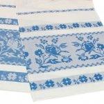 Рушник белорусский синий