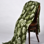 "Байковое одеяло ""Лес"" зелень"