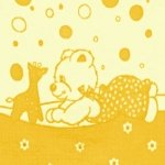"""Байковое одеяло """"Мишка"""" желтое"""