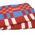 """Байковое одеяло """"Красно-синяя клетка"""""""