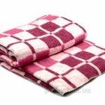 """Байковое одеяло """"Клетка бордо"""""""