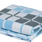 """Байковое одеяло """"Клетка голубая"""""""