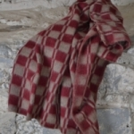 "Байковое одеяло ""Колосок бордо"""