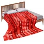 """Байковое одеяло """"Круги"""" красное"""
