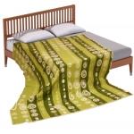 """Байковое одеяло """"Круги"""" зеленое"""