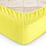 """Махровая простынь на резинке 180х200 """"Лимон"""""""