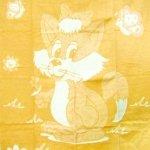 """Байковое одеяло """"Лисенок"""" желтое"""