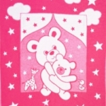 Байковое одеяло ярко-розовое