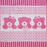 """Байковое одеяло """"Мишутки""""  розовое"""