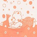 Байковое одеяло персик