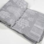 """Байковое одеяло """"Лес""""серый"""