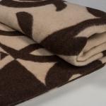 """Одеяла из шерсти """"Вензель"""" коричневый"""