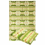 """Байковое одеяло """"Зеленое с желтым"""""""