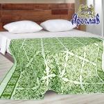 """Байковое одеяло """"Орнамент"""" зеленое"""