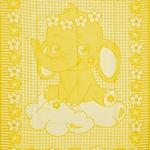"Байковое одеяло ""Слоник"" желтое"
