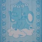 """Байковое одеяло """"Слоник""""  голубое"""