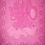 """Одеяло из шерсти """"Слон"""" розовый"""