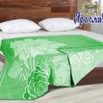 """Байковое одеяло """"Цветы""""  зеленый"""