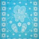 Байковое одеяло бирюза
