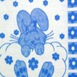 """Одеяло из шерсти """"Зайка"""" голубой"""