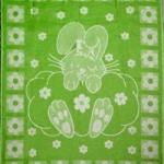 """Одеяло из шерсти """"Зайка"""" зеленый"""