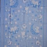 Байковое одеяло  голубое 90