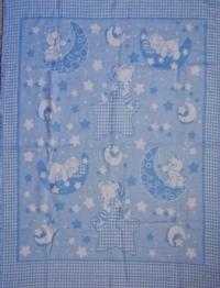 """Байковое одеяло """"Голубое"""" 90"""